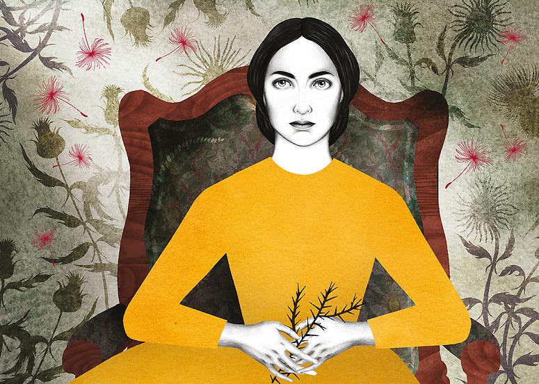 Detalle de la portada de la edición de 'Cumbres borrascosas' ilustrada por Sara Morante.
