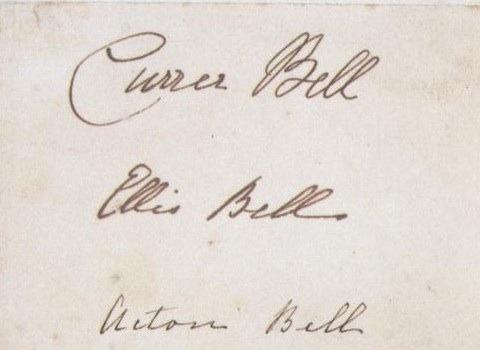 Currer, Ellis y Acton Bell, los seudónimos de las Brontë.